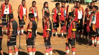 Folk song enacted during Sekrenyi festival is presented by Chakhesang tribe