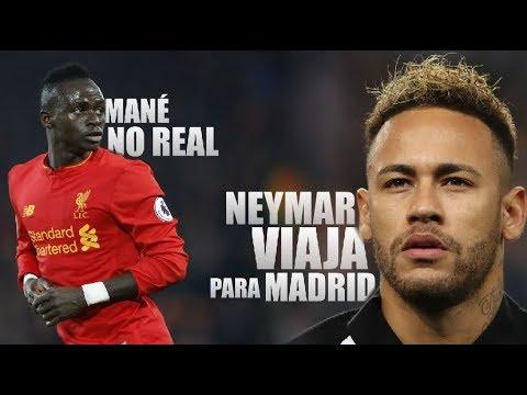 Neymar VIAJA para Madrid / Zidane quer Mané / Brasileiro sofre racismo