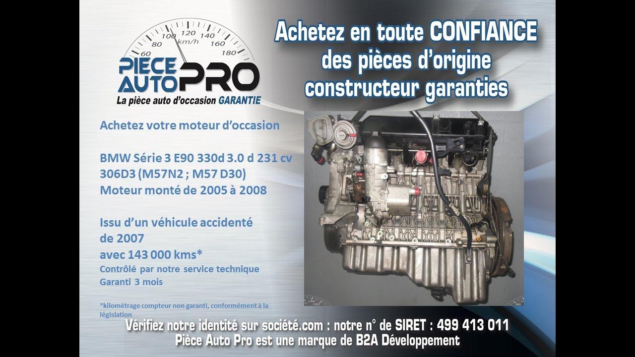 moteur garanti bmw série 3 e90 e92 330d 3 0d 231cv 306d3 - youtube