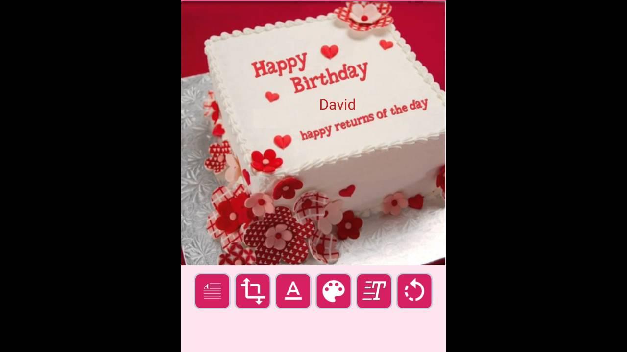Birthday Cake Name Writer
