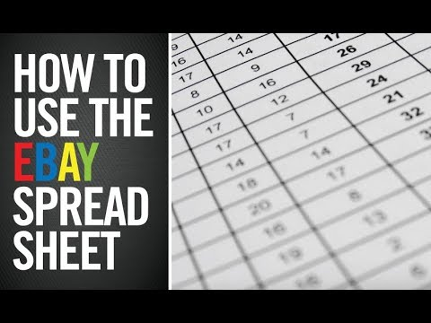FREE EBAY SPREADSHEET AND HOW TO USE IT! TAX TIME!