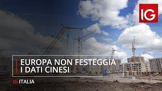 Europa non festeggia i dati cinesi, Piazza Affari sopra 22 mila, ma crolla Juventus