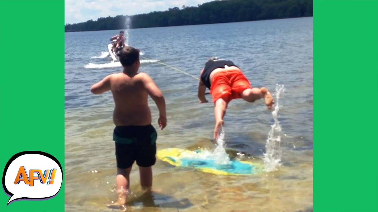 He Got YOINKED Right Off His FEET! ? | Best Funny Water Fails | AFV 2021
