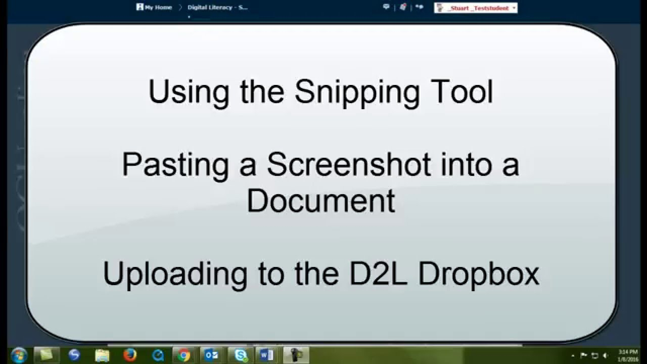 snipping tool image paste