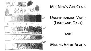 Understanding Value (Light and Dark) and Drawing Value Scales - Weekly Art Lessons Vol. 03