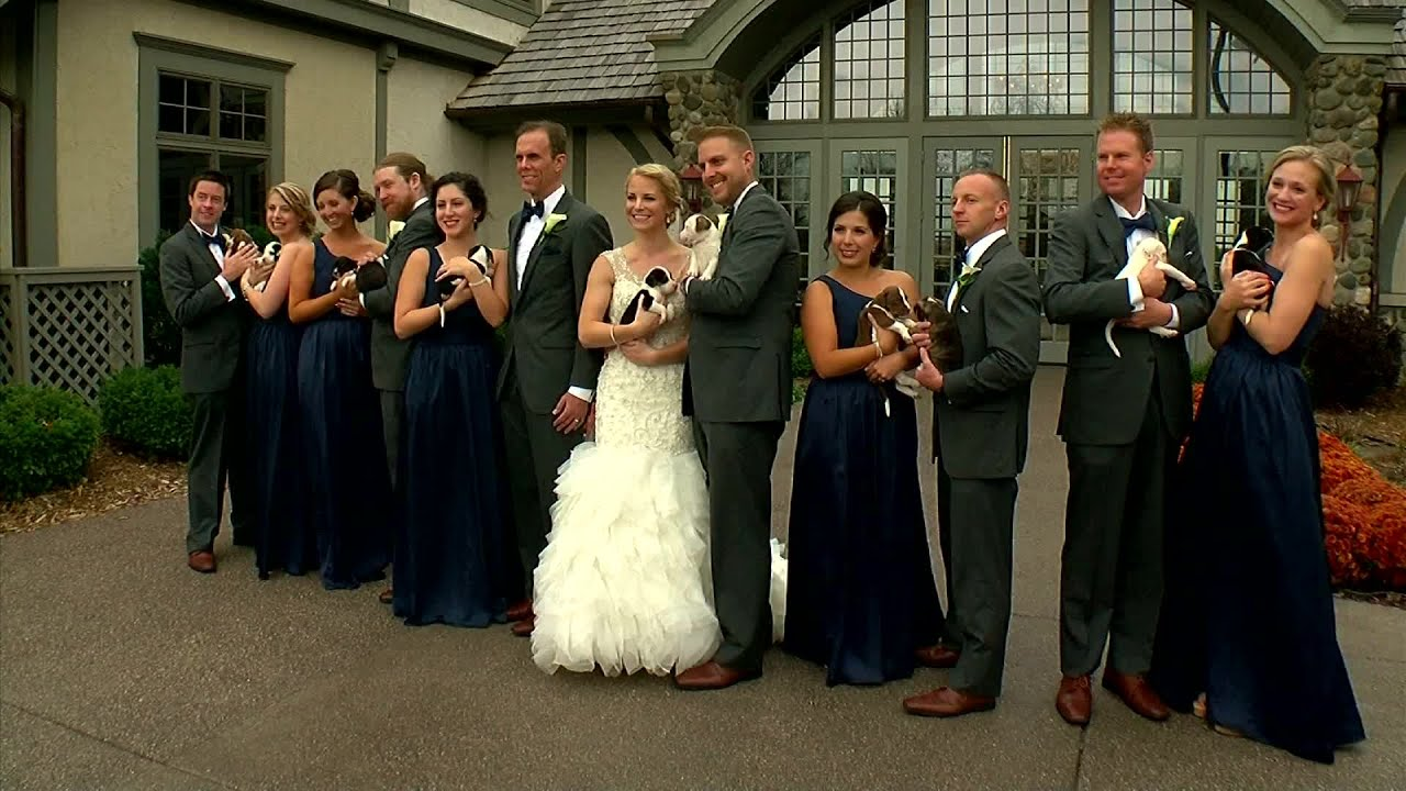 Wedding Uses Puppies Instead Of Flowers YouTube