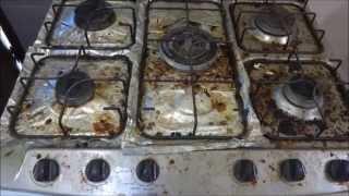 Limpando o fogão sem muito trabalho