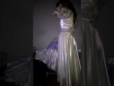 vintage-wedding-dress-satín