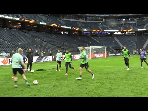 Ajax Train At The Friends Arena Ahead Of Europa League Final Against Manchester United