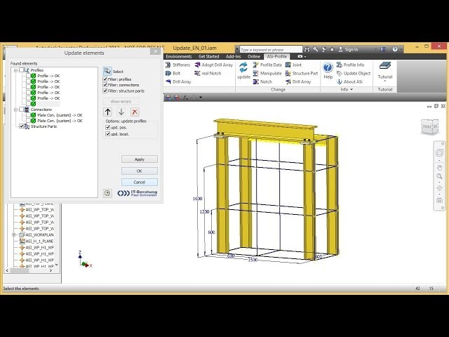 ASi-Profile - Function Update - Parametric-On-Demand - structural