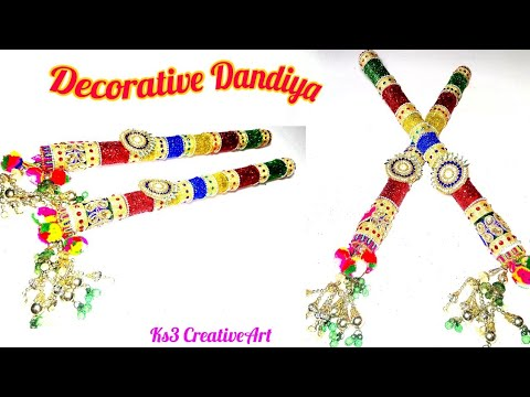 DIY How to Decorate Dandiya Sticks for Navratri Garba | Dandiya Sticks Decoration Ideas | Navratri