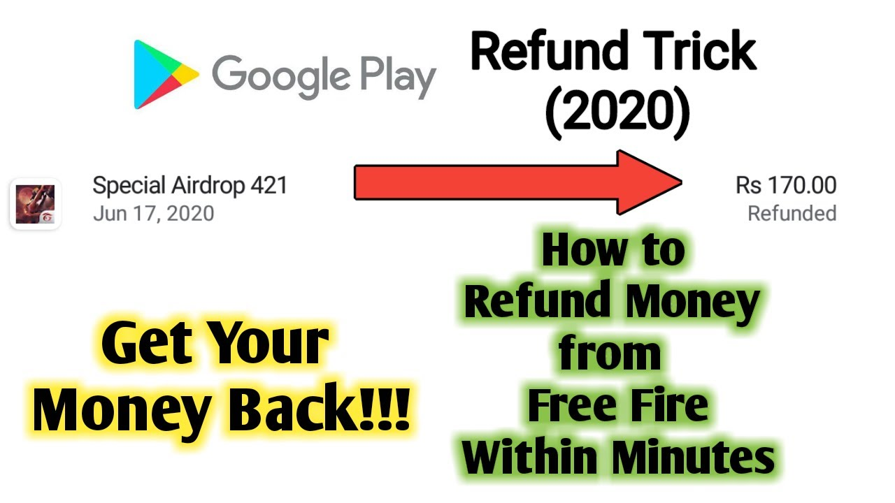 How to Refund Free Fire Google Play Purchase | Google Play Refund Trick 2020 | Free Fire, PUBG, COC