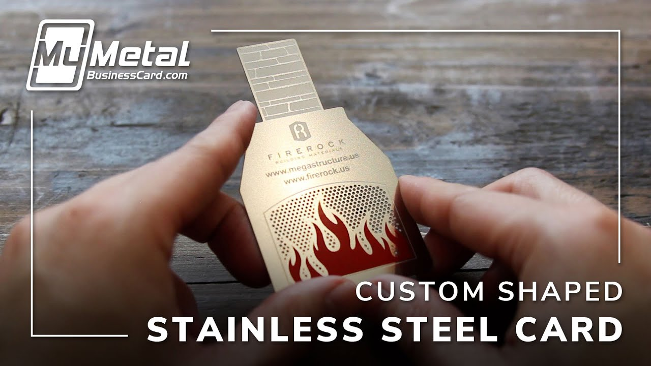 Custom Shape Metal Business Card