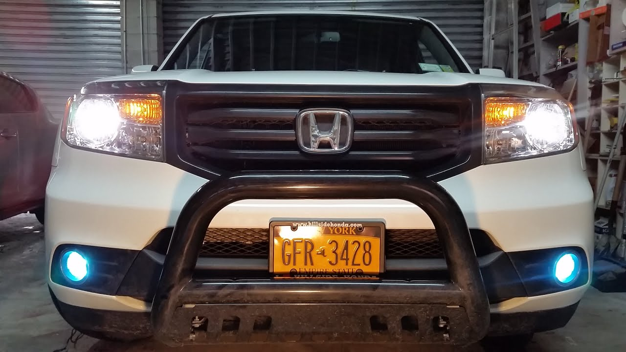 replace  honda pilot foglight bulb youtube