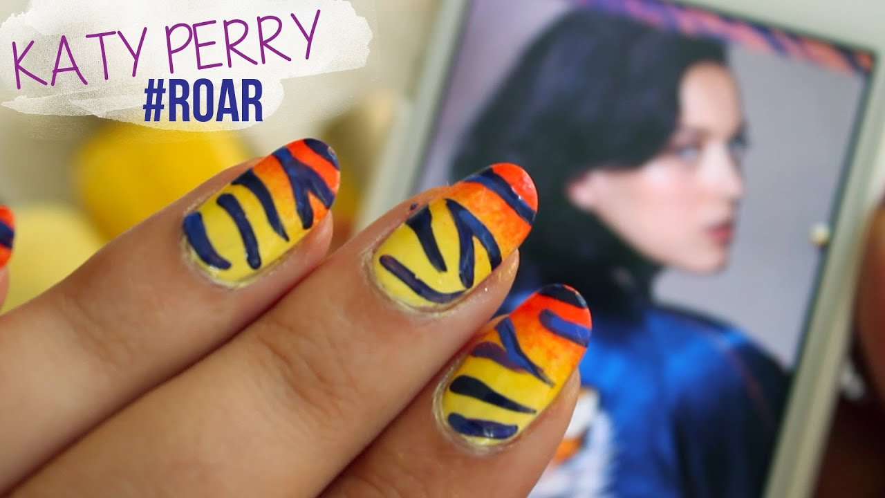 Katy Perry - Roar ♥ Inspired Nails - YouTube