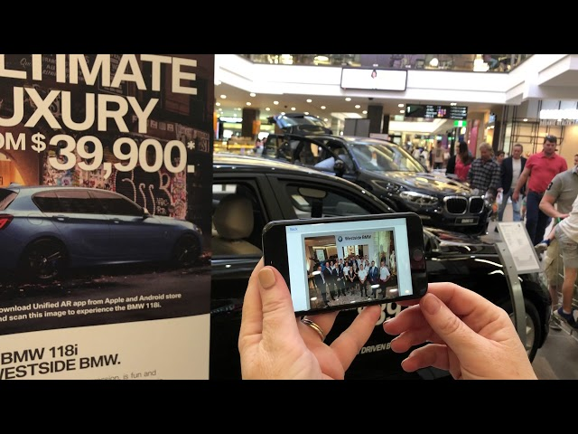 BMW 118i augmented reality banner