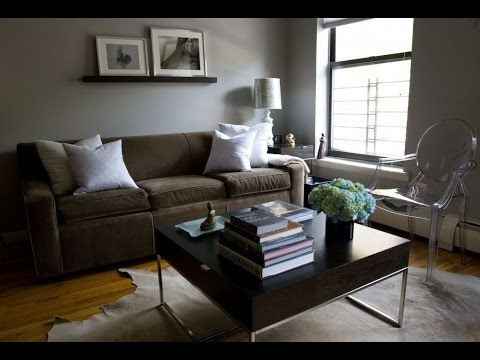 Brown and grey living rooms youtube - Living room colours to go with grey ...