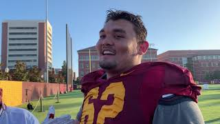 USC C Brett Neilon on bond of offensive line, Fresno State, and more