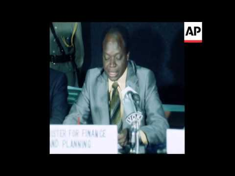 SYND 8 6 77 KENYA'S FINANCE MINISTER KIKABI OPENS CUSTOMS CONFERENCE