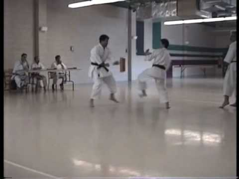 Karate Black Belt Exam Of The Shotokan SKIF Created By  Hirokazu Kanazawa, A Living Legend