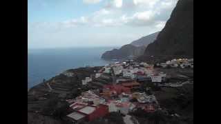 La Gomera  Blick auf den Ort Agulo im Norden der Insel