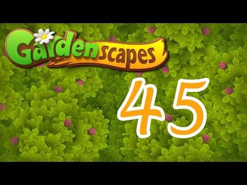 Gardenscapes level 45 Walkthrough