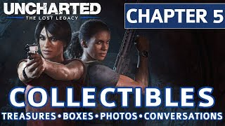 Uncharted The Lost Legacy - Chapter 5 Collectible Locations, Treasures, Photos, Boxes, Conversations