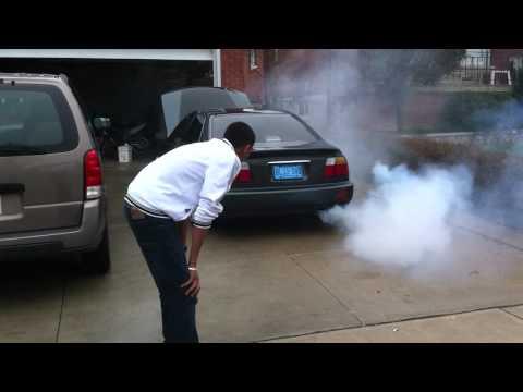 Seafoam Honda Accord: Lots of Smoke!!
