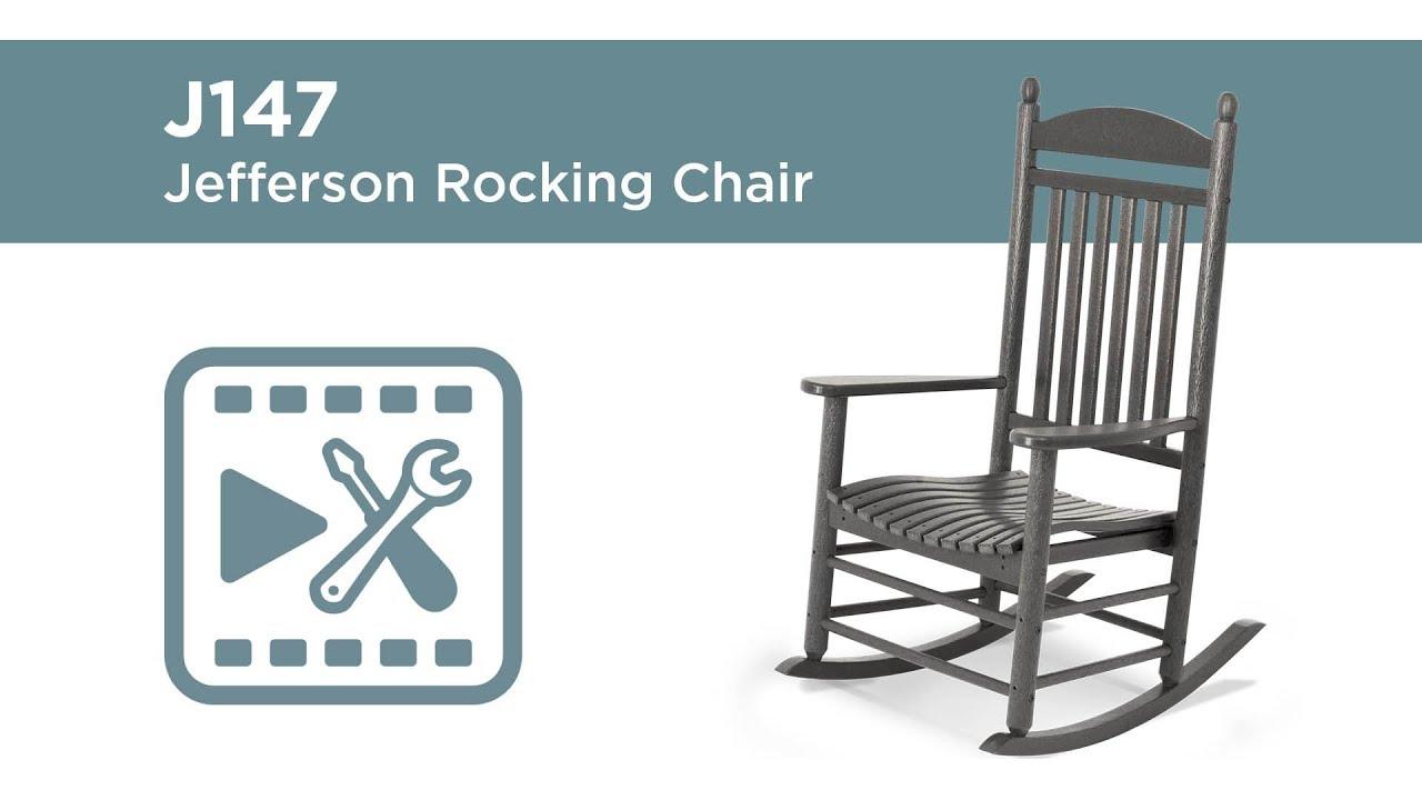 POLYWOOD® J147   Jefferson Rocking Chair Assembly Video