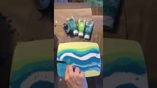 Acrylic Pour using Floetrol and Silicone by Katie O'Rourke