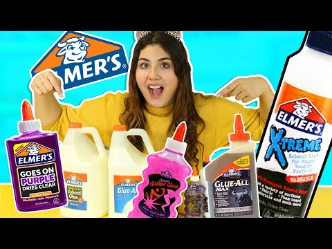 TESTING ALL ELMERS GLUE FOR SLIME PART 1/2 | Slime experiments | Slimeatory #227