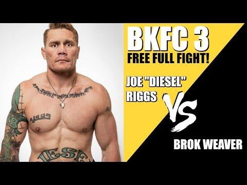 BKFC 3 Full Fight | Joe 'Diesel' Riggs vs. Brok Weaver