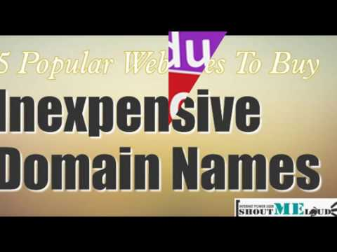 Cheapest way to buy a domain name
