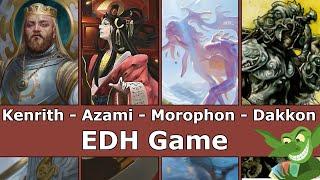 Kenrith vs Azami vs Morophon vs Dakkon Blackblade EDH / CMDR game play for Magic: The Gathering