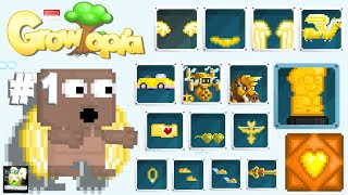 NOOB WITH GOLDEN ITEMS #1| Growtopia Social Experiment