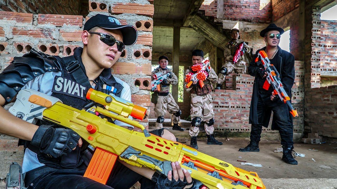 LTT Game Nerf War : Warriors SEAL X Nerf Guns Fight Braum Crazy Museum Thief