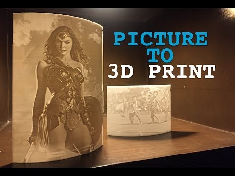 Lithophanes - Photo Light 3D Printing Ft. Wonder Woman