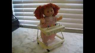 Vintage Cabbage Patch Kids Walking Chair Red Head Cean Toys WORKING Battery Operated
