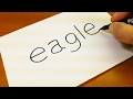 How To Turn Words EAGLE Into A Cartoon Let S Learn Drawing Art On Paper For Kids mp3