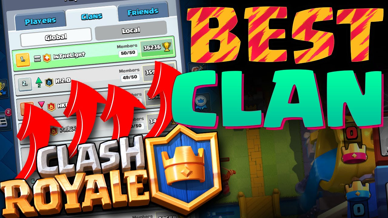 #1 CLAN IN THE WORLD : Clash Royale : HIGH LEVEL GAMEPLAY