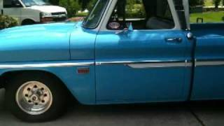1966 chevy truck! old blue