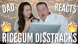 DAD REACTS TO RICEGUM'S DISSTRACKS + GIVEAWAY WINNER!