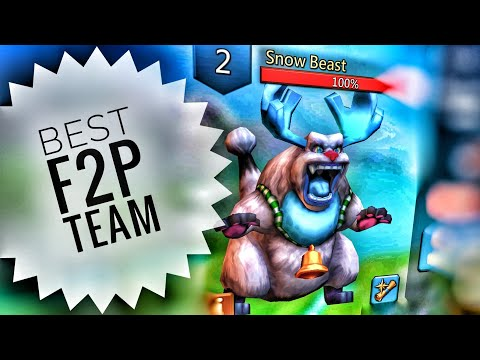 Lords Mobile - Best F2P Snow Beast Monster Hunting Team