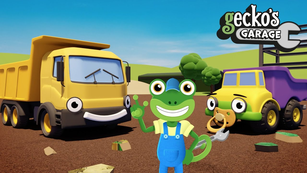 Daisy And Dylan The Dump Trucks | Construction Vehicles For Kids | Gecko's Garage | Trucks For Kids