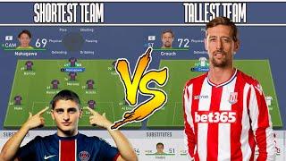 SHORTEST TEAM VS TALLEST TEAM IN FIFA 19 EXPERIMENT! BREAKS THE GAME!