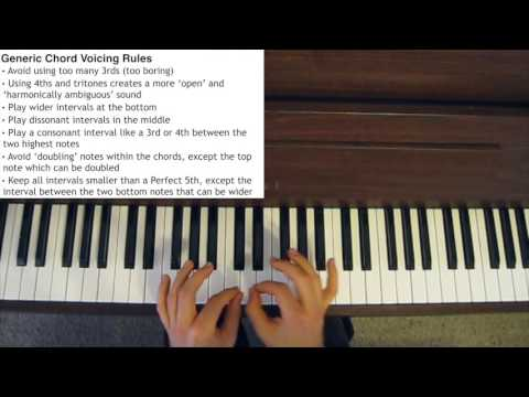 Jazz Piano Chord Voicings - Chord Voicing Rules