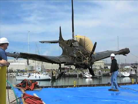 WWII-era bomber pulled from Lake Michigan