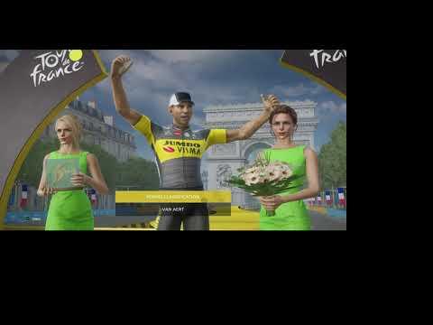 TDF 2021 Game, Stage 21 of Tour De France as Jumbo Visma |