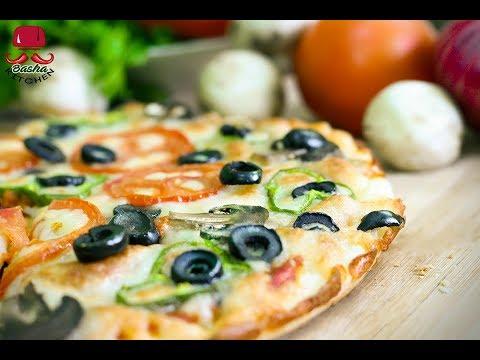 صورة  طريقة عمل البيتزا طريقة عمل البيتزا مع سر الصوص و طريقة عجينة البيتزا بالزبدة اطيب من بيتزا هت بطريقة كتشن باشا طريقة عمل البيتزا من يوتيوب