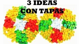 3 Creativas con Tapas de Botella Plástica